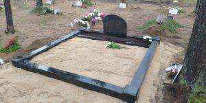 Karjala must graniit kahekohaline hauapiirded